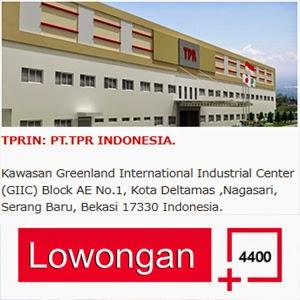 Lowongan Kerja Bulan Juni 2017 PT. TPR Indonesia (PT