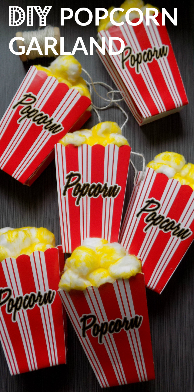 Fun Family Night Ideas - How To Bring The Family Back Together Each Week For Quality Time - DIY Popcorn Garland One Savvy Mom onesavvymom  blog #DataAndAMovie