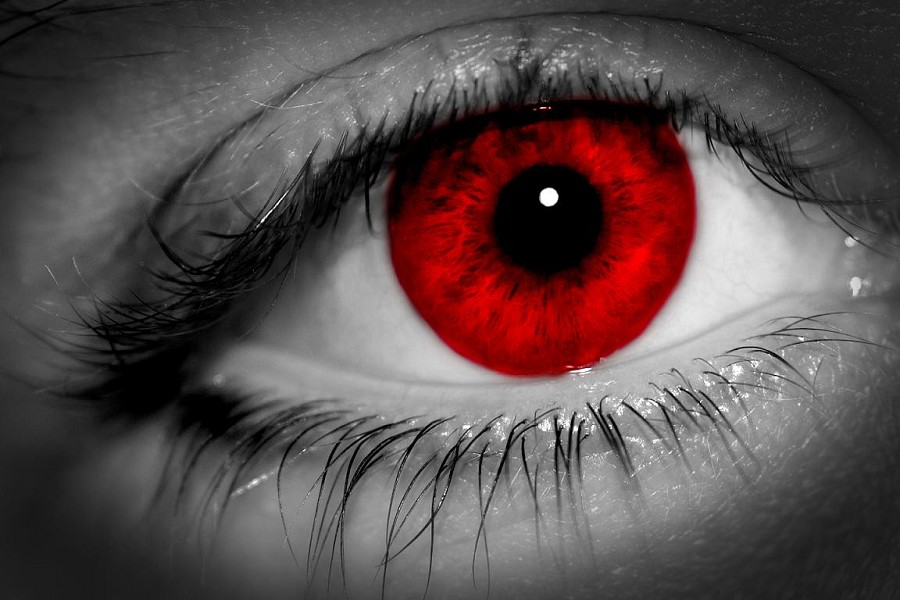 Red Eye Person