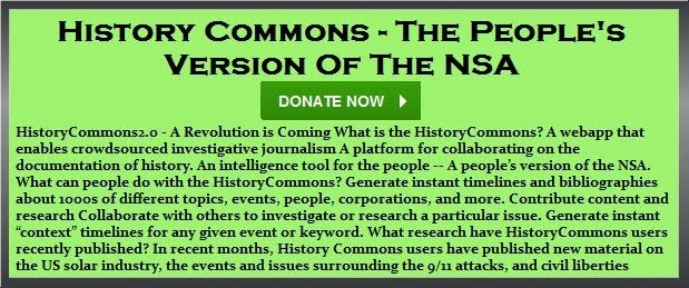 Thursday, Sept 11, 2014 - [[[[[[[[ History Commons - The People's Version Of The NSA ]]]]]]