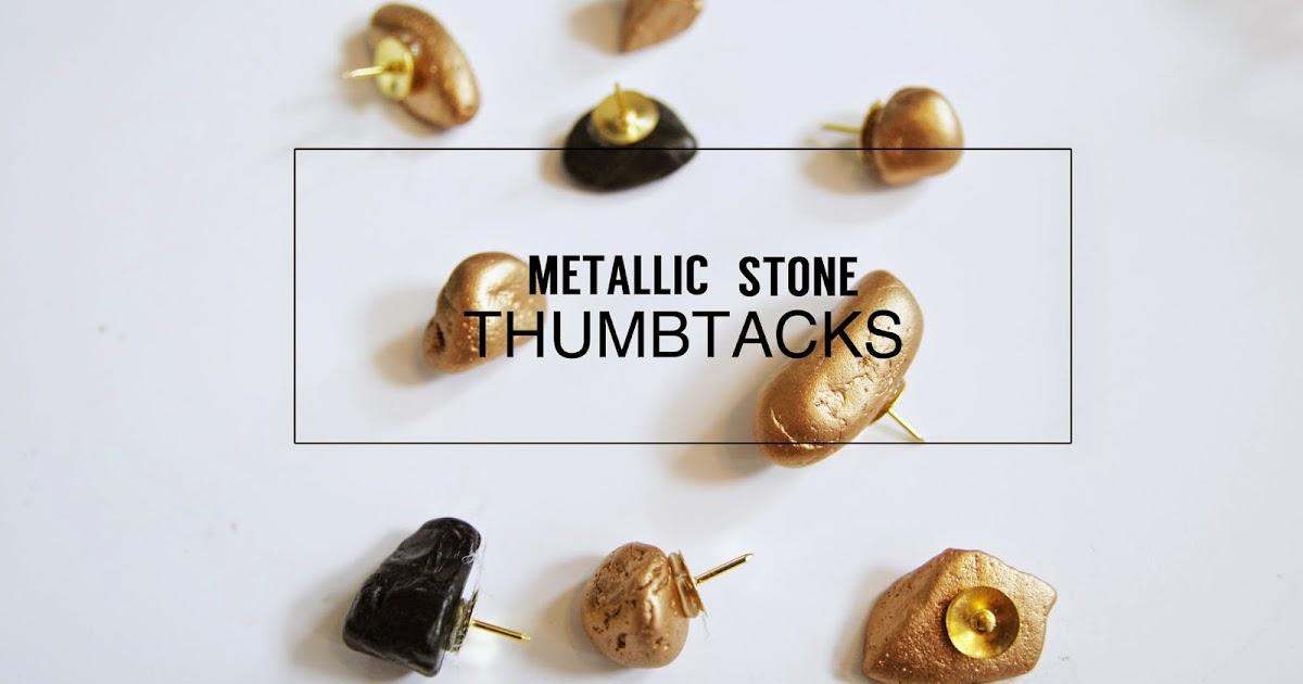 ... Ginger1: Metallic Stone Thumbtacks + USD25 Target Gift Card Giveaway