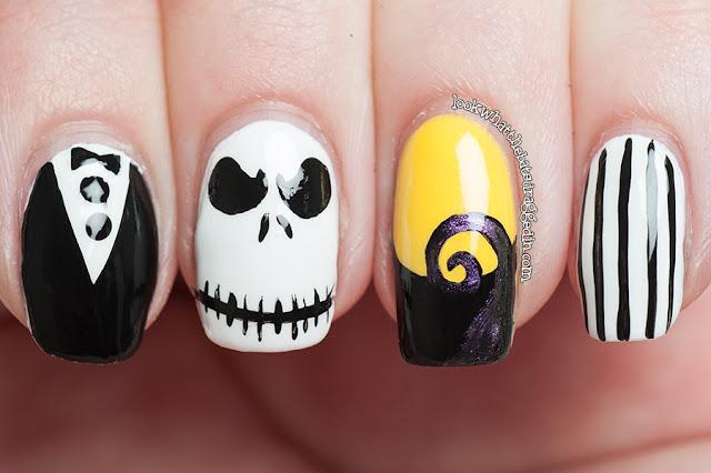 halloween nail art jack skellington nightmare before christmas ulta3 essence polish