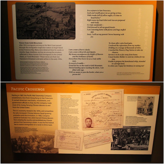 Chinese labours were ferried to San Francisco to build railway tracks in the 1800s at National Museum of American History in Washington DC, USA