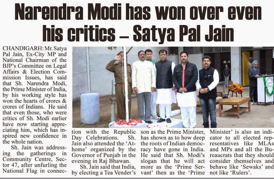 Narendra Modi has won over even his critics - Satya Pal Jain