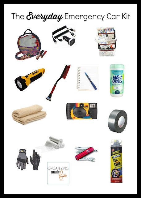 The Everyday Emergency Car Kit :: OrganzingMadeFun.com