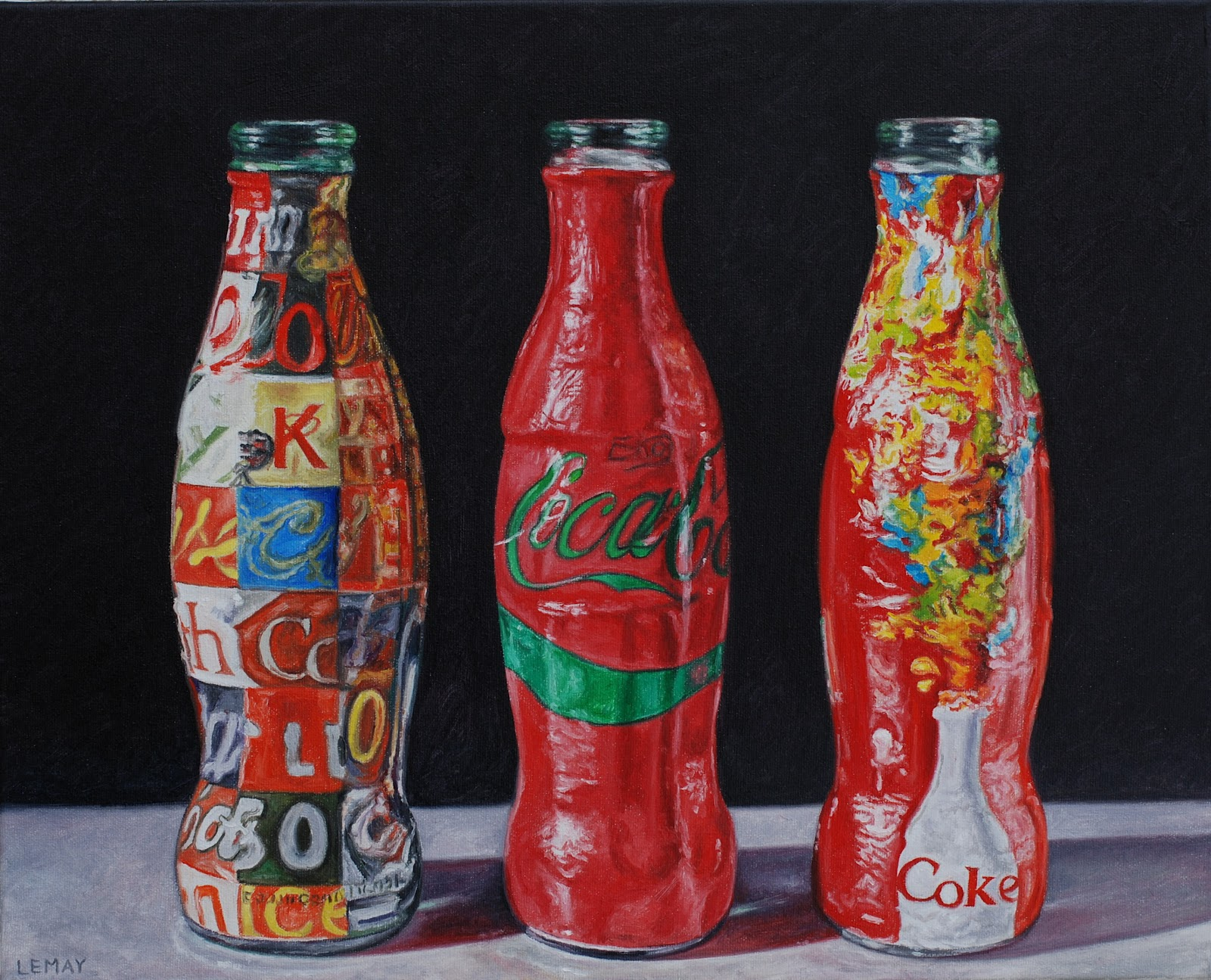 analysis of andy warhols coke bottles Andy warhol said that he didn't believe in love andy said, can i have your soup cans and coca-cola bottles.