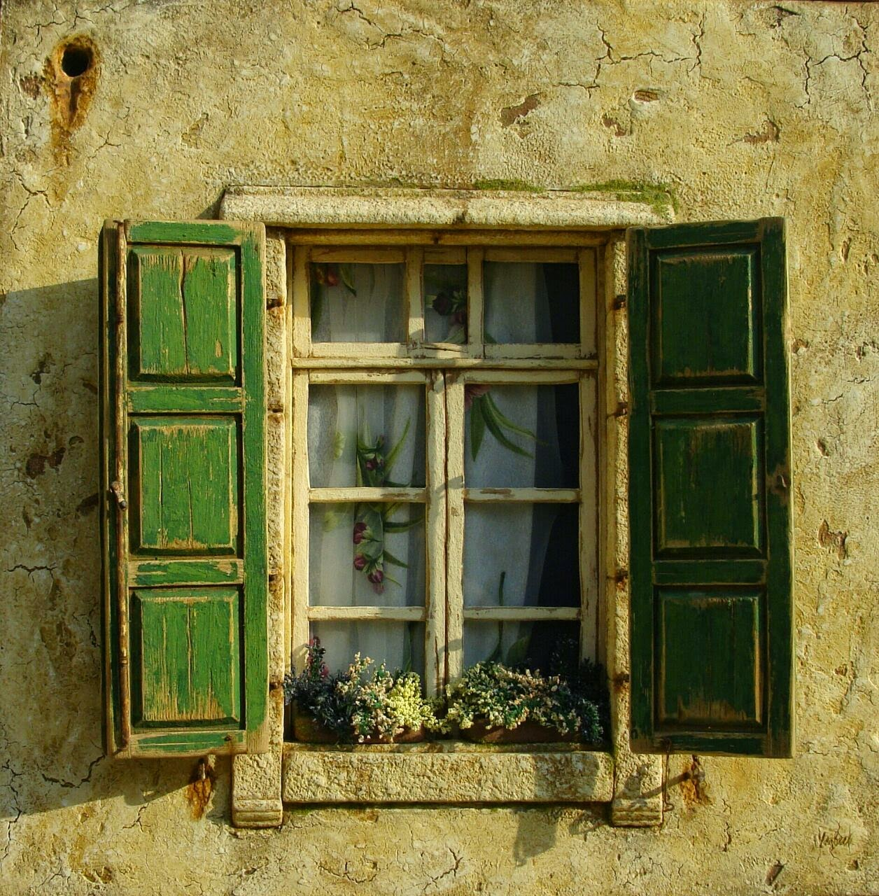 Mind blowingly realistic miniatures of lebanese homes for Window design old