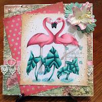 Oak Pond Creations Love Flamingos