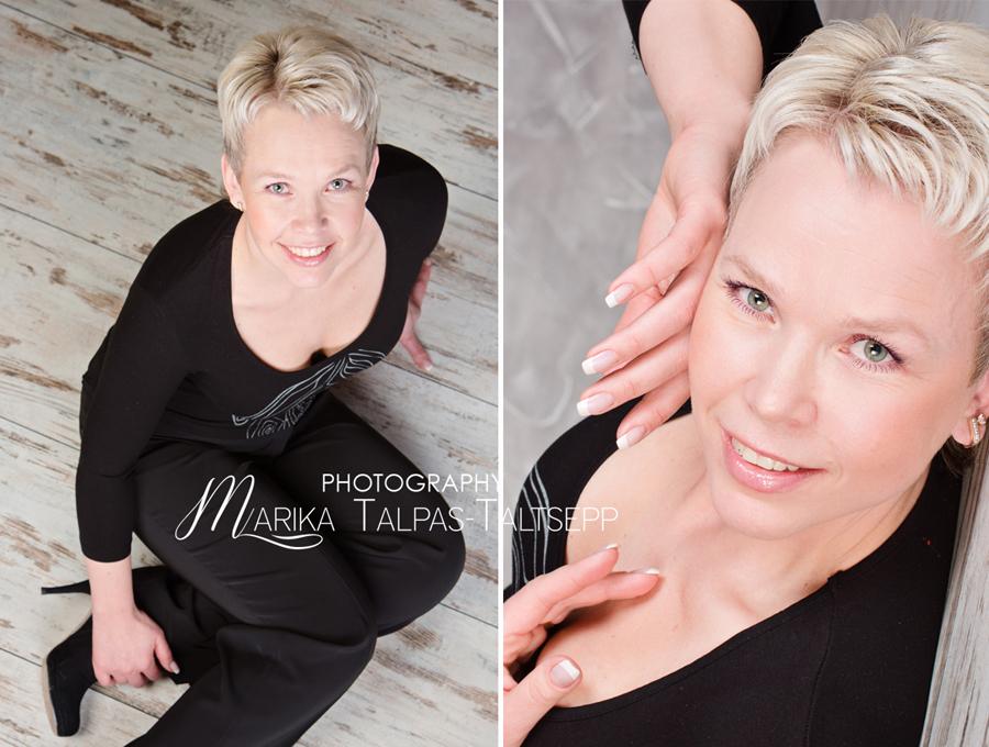 naise portree-fotostuudio