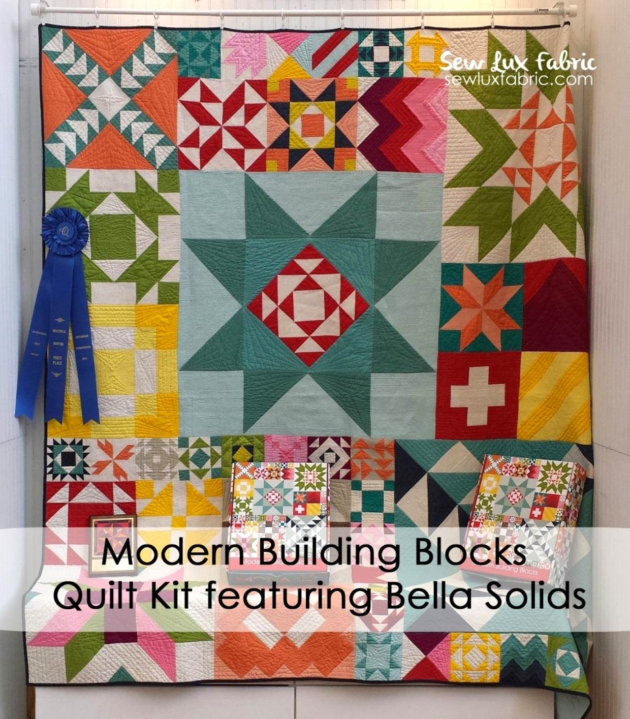 Sew lux fabric blog modern building blocks patterns for Modern house quilt block