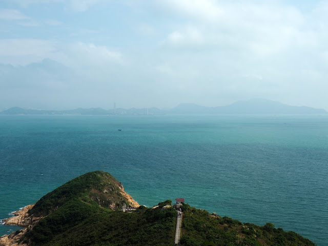 Coastal view from North Lookout Pavilion on Cheung Chau Island, Hong Kong