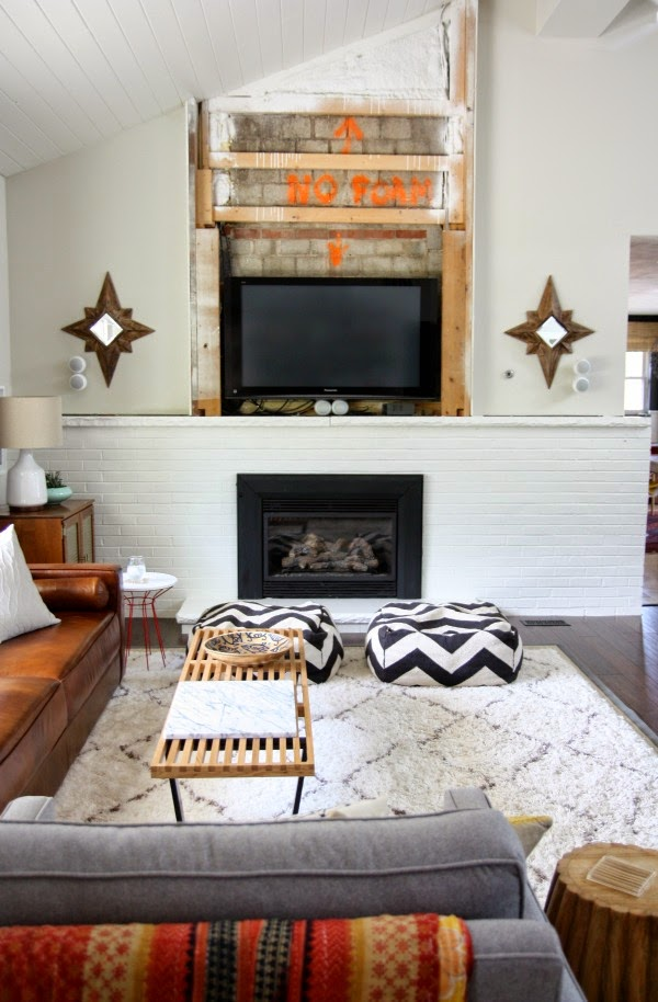 Painting Brick Fireplace white design