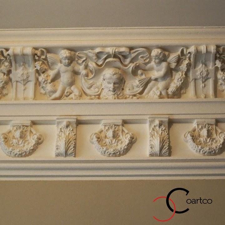 cornisa tavan ingeri, cornisa tavan perosnalizata, profile decorative polistiren
