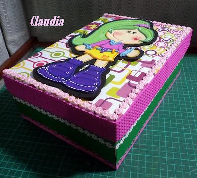 Lindas manualidades caja de zapatos decorada - Decorar cajas de zapatos ...