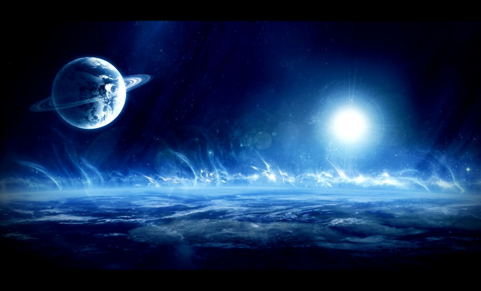 View Original Size Download Outer Space Planets Artwork Wallpaper Wallpapers Printed