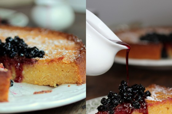 Lemon Blueberry Polenta Cake #SundaySupper | Vintage Kitchen Notes
