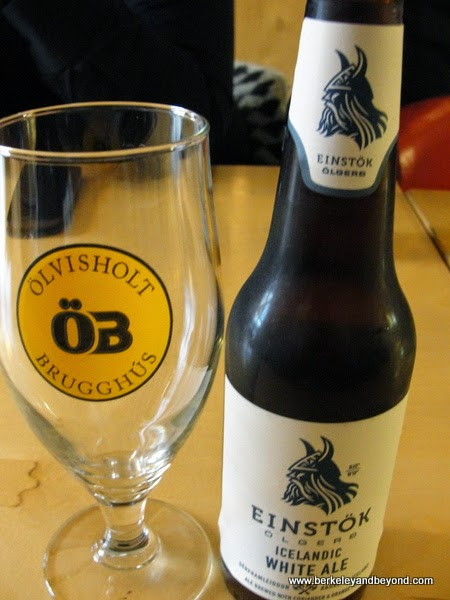 Einstok beer at Skaftfell Bistro in Seydisfjordur in northeast Iceland