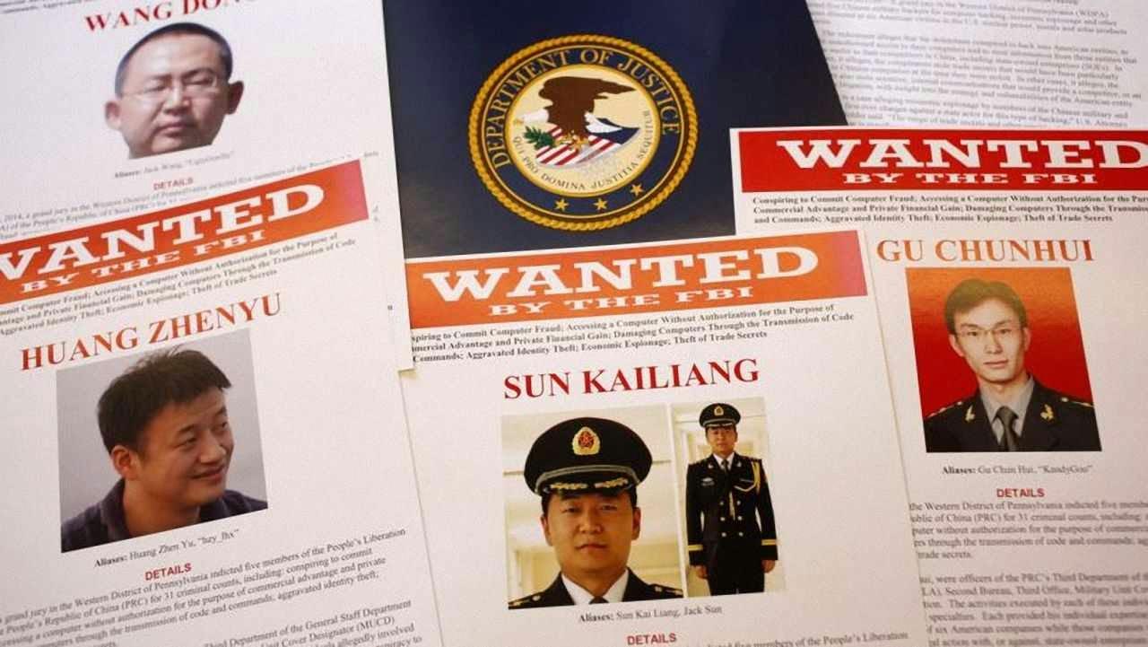 Departamento de Justiça dos EUA pede prisão de cinco oficiais chineses indiciados por cyberespionagem