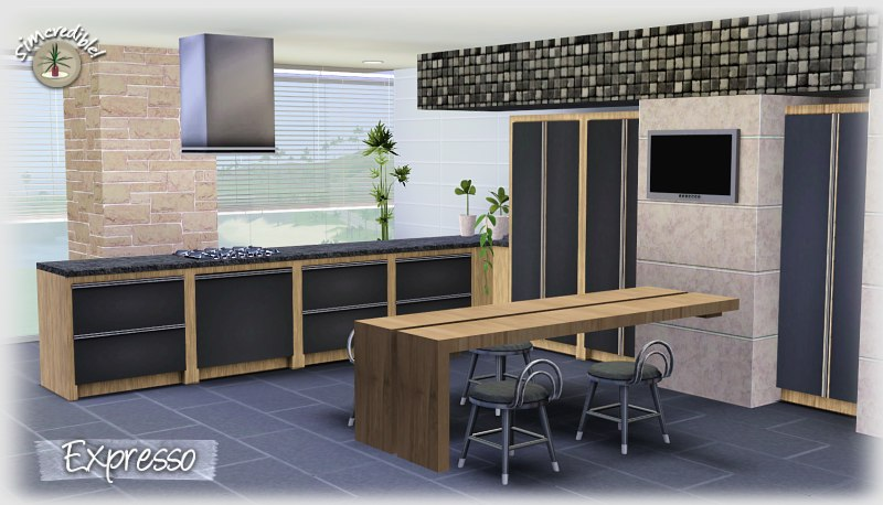 My sims 3 blog expresso kitchen set by simcredible designs for Sims 3 kitchen designs