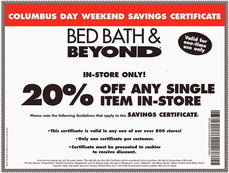 Discount coupons bed bath beyond online