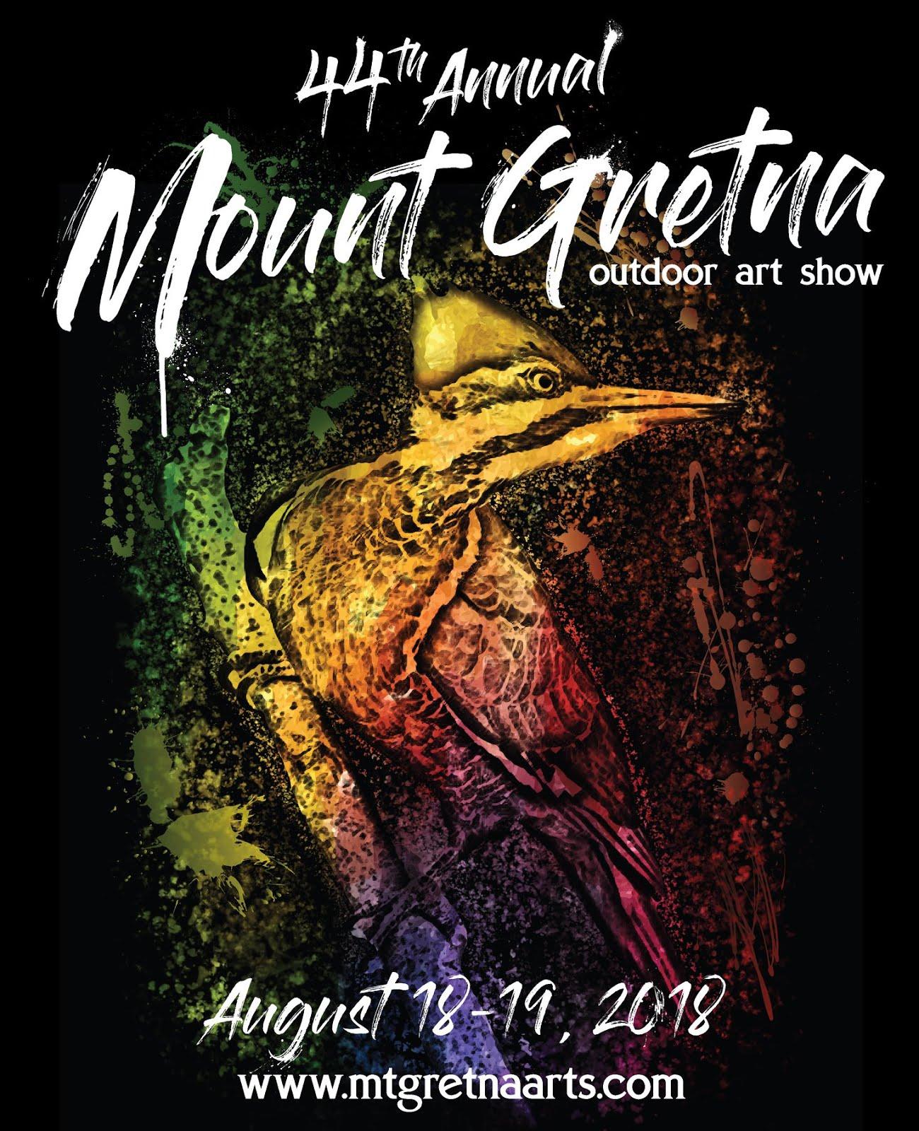 EXHIBITING ARTIST AT MT. GRETNA OUTDOOR ART SHOW 2018