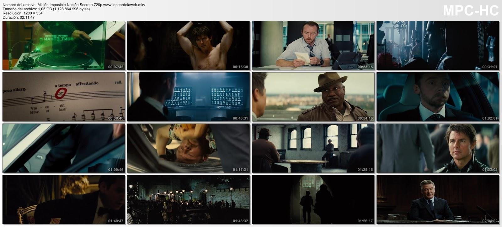 Misión Imposible Nación Secreta  720p Latino (2015) [Mega]