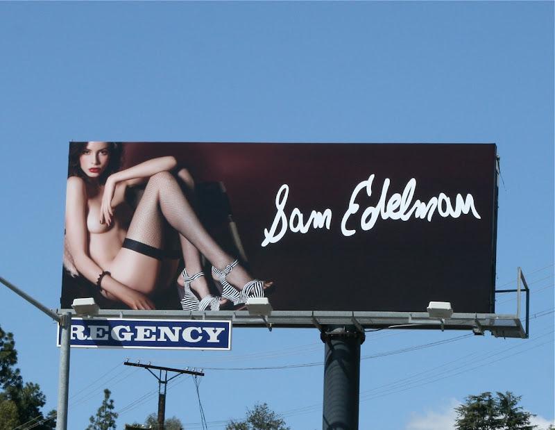 Sam Edelman naked shoes billboard