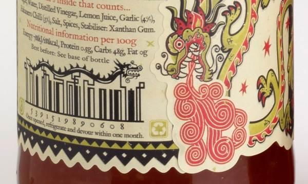 barcodes naga pada botol sos
