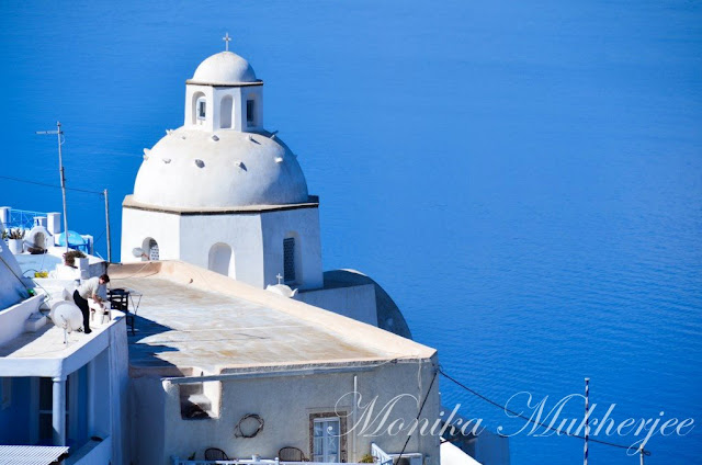 Fira Santorini Greece by Monika Mukherjee