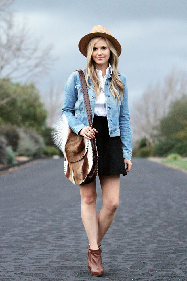 Denim skirt and jacket – Dress blog Edin