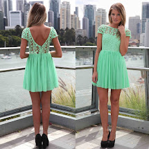 Mint Green and Black Dresses