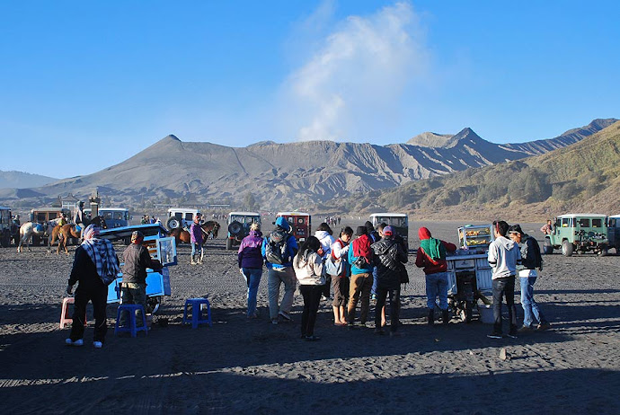 Aparcamiento en el volcán