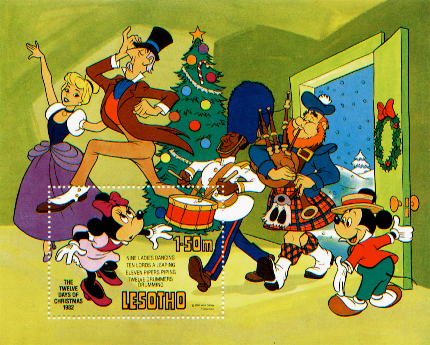 on the ninth tenth eleventh and twelfth days of christmas - Disney 12 Days Of Christmas