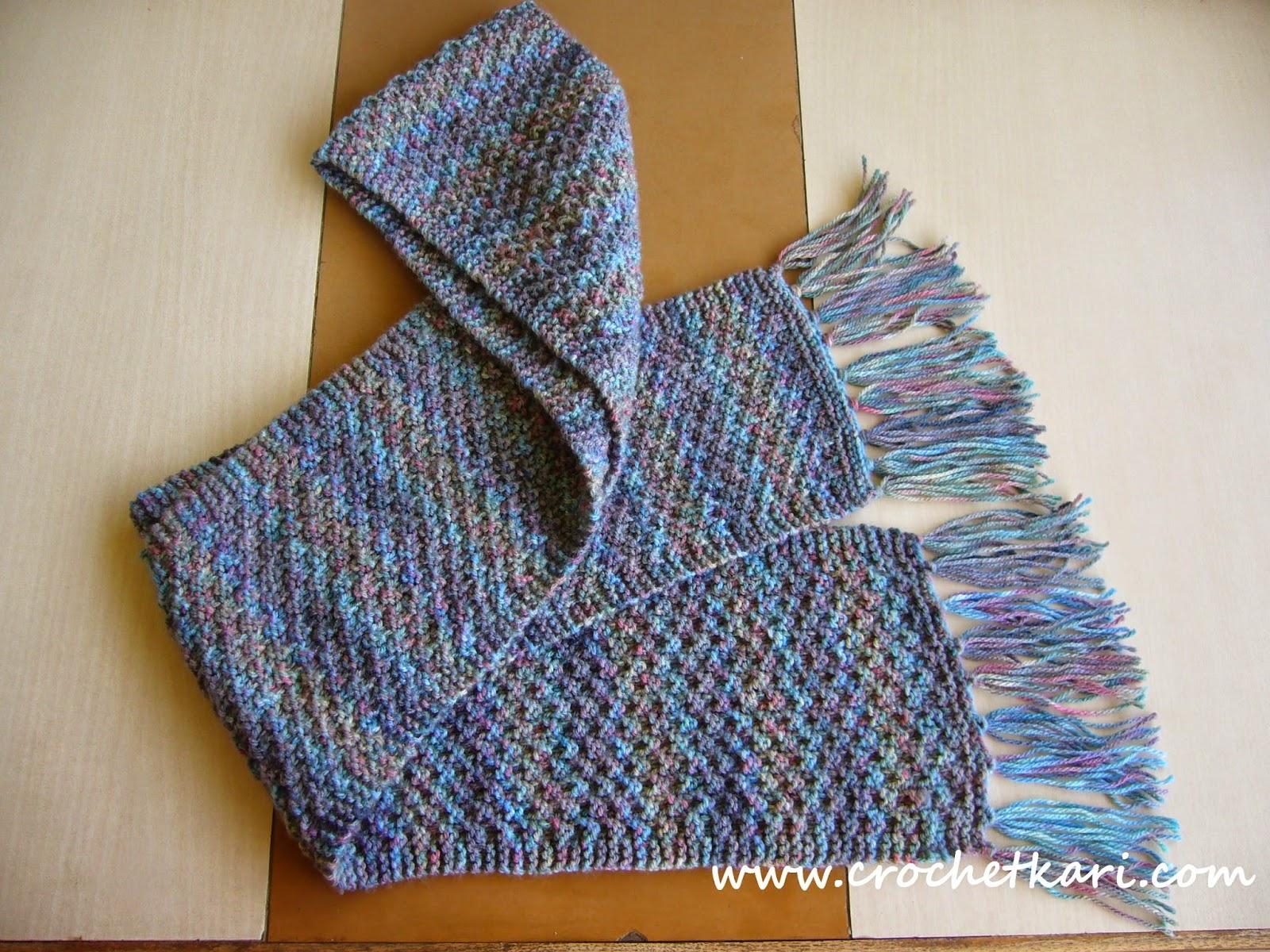 Crochetkari free knitting scarf pattern