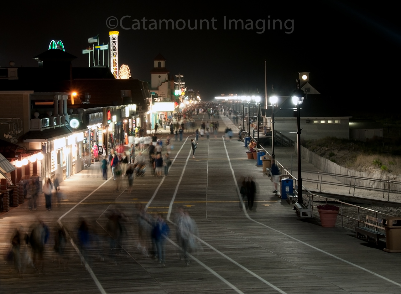 Ocean+city+boardwalk+at+night