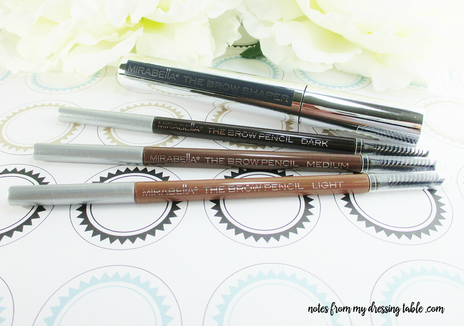 Mirabella Borrowed from the Boys Brow Collection Pencils and Brow Shaper notesfrommydressingtable.com