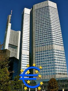 Eurotower, sede del Banco Central Europeo, en Frankfurt (Alemania)
