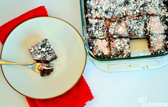 Mint chocolate sheet cake