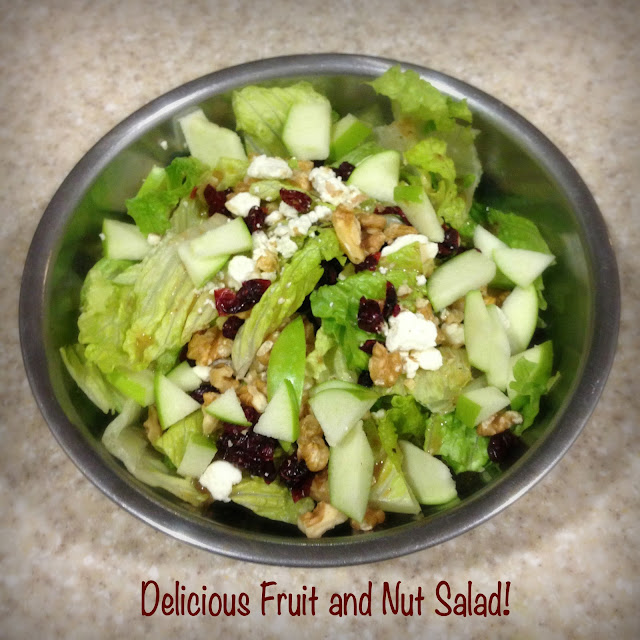 fruit and nut tossed salad recipe