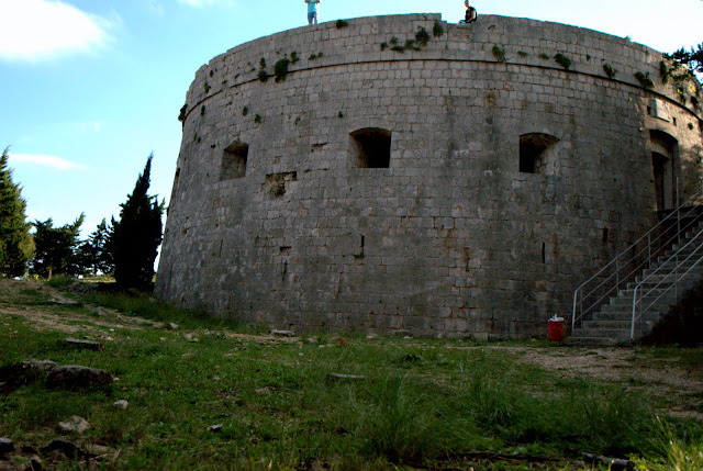 Napoleon's fort at Lokrum Island. Croatia