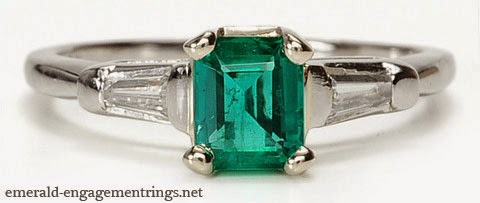 You may select the emerald solitaire rings or you can select from the large range of emerald and diamond rings