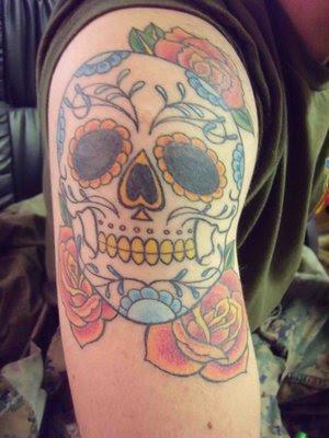 Sugar Skull Lady Tattoo