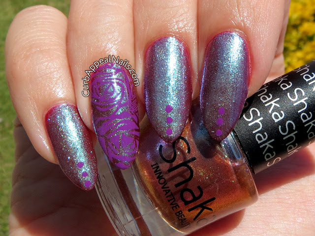 Shaka Metalgold stamped with Mundo de Unas Purple