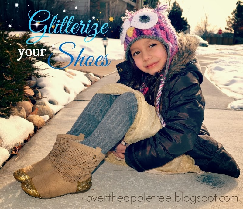 Repair and glitterize your shoes by Over The Apple Tree