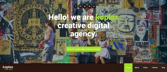 Koplax Responsive Portfolio WordPress Theme