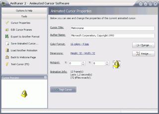 AniTuner: Aplikasi untuk Membuat Animasi Kursor untuk Windows