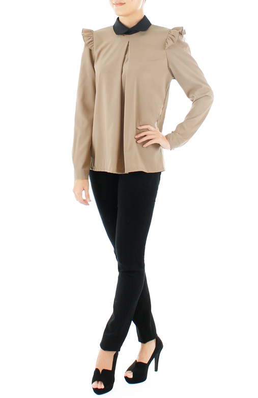 Hidden Secrets Long Sleeve Blouse – Caramel