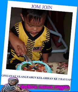 Giveaway Ulangtahun Kelahiran ke 2 Rayyan
