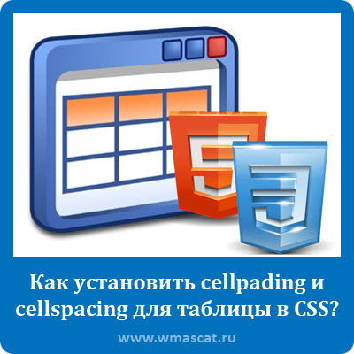 Как установить cellpading и cellspacing для таблицы в CSS?