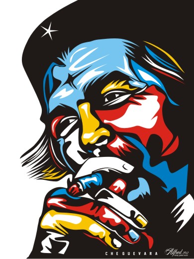 che guevara-vector-pop-art-download-beda- teknik-gambar